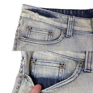 Carmar Shorts - Carmar Studded Bleached Blue Cut Off Frayed Shorts